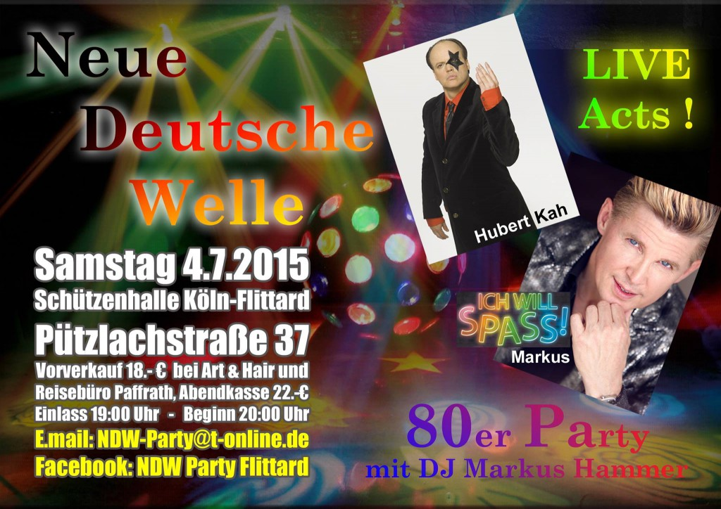 Plakat der NDW-Party 2015