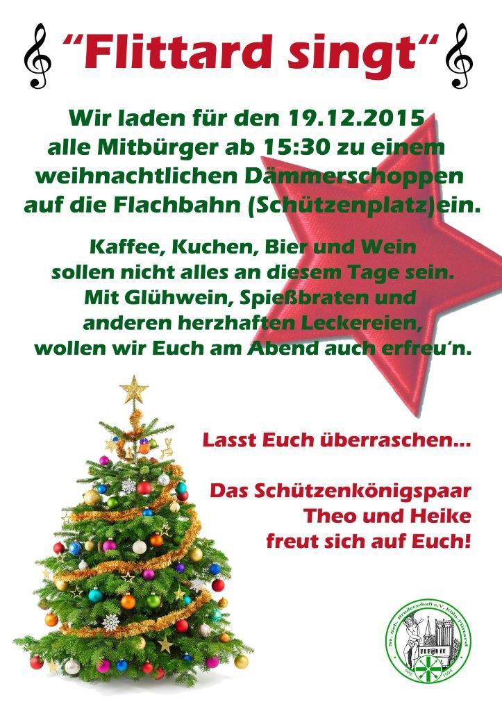 Weihnachtlicher Dämmerschoppen am 19.12.2015