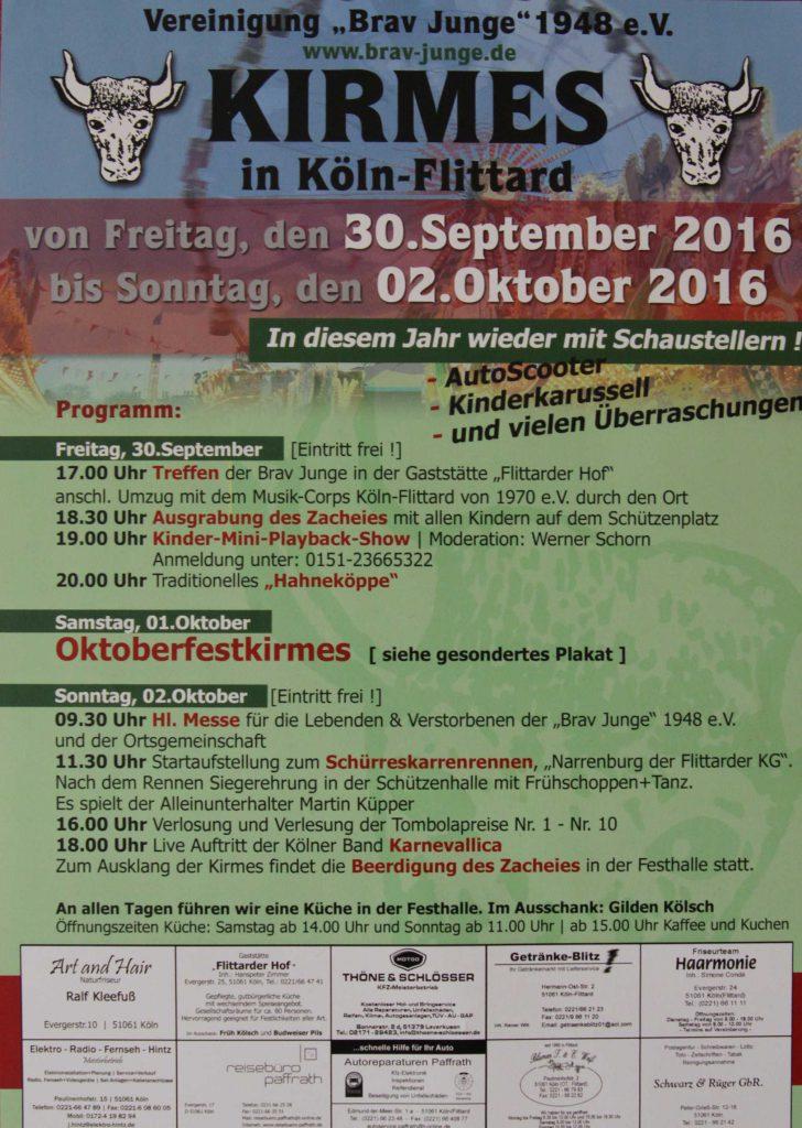Plakat der Flittarder Kirmes 2016